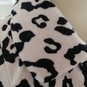 Chico's Jackets & Coats - CHICO'S Plush Black & Cream Leopard Print Jacket